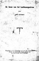 """Box 42, Folder 09, """"De bouw van het Lanthanspectrum,"""" Handelingen van het XXe Nederlandsch Natuur- en Geneeskundig Congres, 1925"""