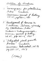 Box 58, Folder 34, Phylotaxy, 1942, 1960