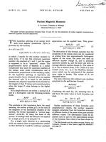 """Box 43, Folder 45, """"Nuclear Magnetic Moments,"""" Physical Review, 1933"""