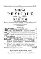 """Box 43, Folder 57, """"Sur la masse des particules élémentaires,"""" Le journal de physique et le radium, 1939"""