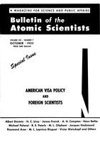 "Box 44, Folder 81, ""Eminent American Scientists Give their Views on American Visa Policy: Samuel Goudsmit,"" Bulletin of the Atomic Scientists, 1952"