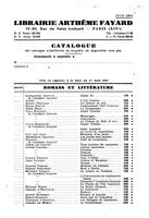 Box 29, Folder 68, French translation by Librairie Arthème Fayard: correspondence and manuscript of preface to French edition, 1948-1950