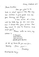 Box 25, Folder 05, Goudsmit's letters to wife and daughter during mission, 1944