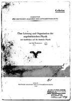 Box 26, Folder 23, Ramsauer, van Carl and Allgemeine Elektizitäts-Gesellschaft, 1943-1945