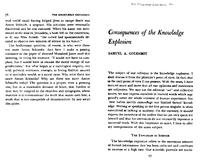 "Box 45, Folder 097, ""Consequences of the Knowledge Explosion,"" The Knowledge Explosion, 1966"
