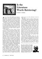 "Box 45, Folder 098, ""Is the Literature Worth Retrieving?"" Physics Today, 1966"