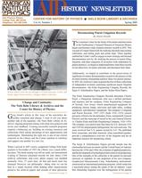 AIP History Newsletter, Vol. 41, No. 1, Spring 2009