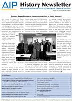 AIP History Newsletter, Vol. 42, No. 2, Winter 2010-2011