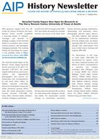 AIP History Newsletter, Vol. 44, No. 1, Summer 2012