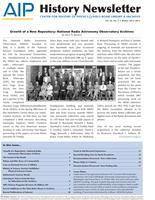 AIP History Newsletter, Vol. 44, No. 2, Winter 2012-2013