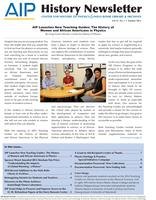 AIP History Newsletter, Vol. 47, No. 1, Summer 2015