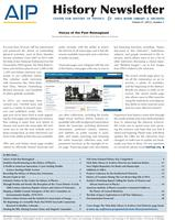AIP History Newsletter, Vol. 47, No. 2, 2015