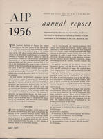 1956 AIP Annual report