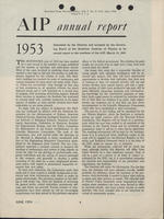 1953 AIP Annual report