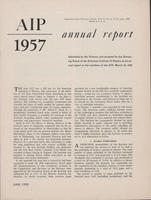1957 AIP Annual report