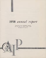 1958 AIP Annual report