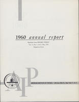 1960 AIP Annual report