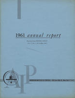 1961 AIP Annual report