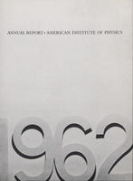 1962 AIP Annual report