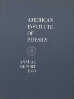 1963 AIP Annual report