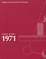 1971 AIP Annual report