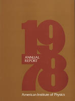 1978 AIP Annual report
