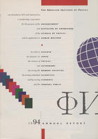 1994 AIP Annual report