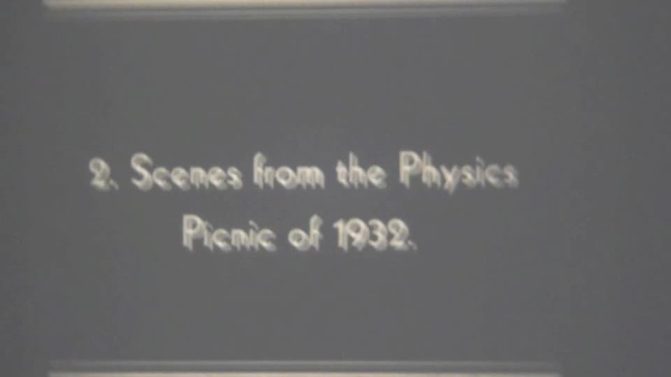 Ernest Merritt early American Physical Society movies, 1930-1934