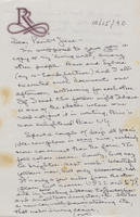Box 1, Folder 09, Correspondence - family, 1951-1997; undated