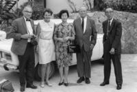 Alfred Nier, Mrs. Nier, Mrs. Ogata, Kenneth Bainbridge and Prof. Ogata on the top of the Mt. Rokko