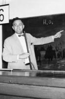 Alfred Nier lecturing at Max Planck Institut fur Chemie