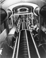 Interior of the Westinghouse atom smasher during the final phases of its construction