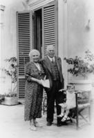 Amelia Segrè (E. Segrè's mother), Giuseppe Segrè (E. Segrè's father), and an unidentified (unrelated) little boy
