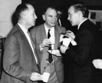 John Wertz, P.M. Wright, and E.W.J. Mitchell conversing