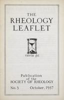Box 4, Folder 03, Rheology Leaflet, No. 03, October 1937